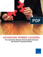 Advancing Women Leaders the Connection Between Women Board Directors and Women Corporate Officers