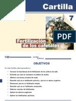 Cartilla Cafetera Capitulo7 Fertilizacion de Cafetales