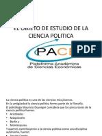 Ciencia Politica 2013 Objeto de Estudio