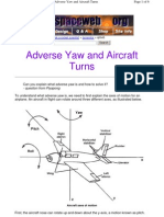 Adverse Yaw and Aircraft Turns