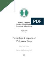 Psychological Impacts of Polyphasic Sleep (Bachelor work)