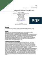 Modern Curriculum Development for Informatics (Computing Science)