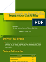 Investigacion en Salud Publica IAESP 2007