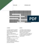 Crusigrama Sistemas de Informacion
