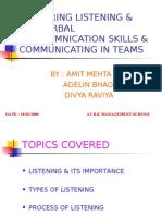 listening skills & non verbal communication