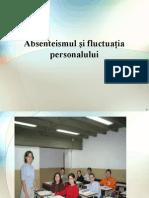 Absenteismul Si Fluctuatia Personalului