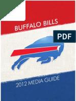 2012 Buffalo Bills Media Guide