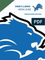 2012 Detroit Lions Media Guide