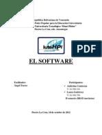 El software es el conjunto de los programas de cómputo