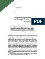 51079973 IURI LOTMAN La Semiotica de La Cultura y El Concepto de Texto
