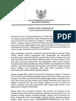 Laporan Hasil Pemeriksaan Atas Laporan Keuangan