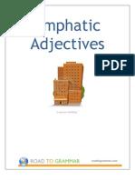 Emphatic Adjectives Worksheet
