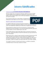 Transistores falsificados