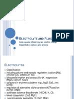 Electrolyte and Fluid Balance