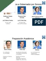 Precandidatos del PAN al Gobierno de Sonora