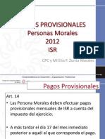 Pagos Provisionales Personas Morales ISR 2012