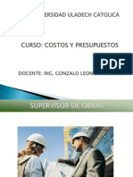 Exposicion Supervision de Obras