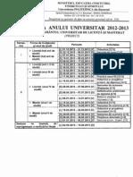 Structura Anului Univ. 2012-2013