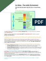 The Acidic Environment - Syllabus Notes - Daniel Wilson