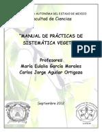 MANUAL  SISTEMÁTICA VEGETAL-2012B