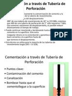 Cementación a través de Tubería de Perforación