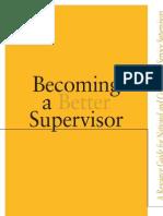 Becoming a Better Supervisor