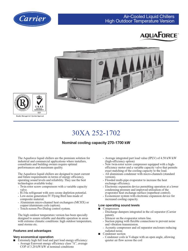 30xa product data pdf air conditioning heat exchanger rh scribd com