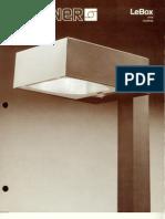Sterner Lighting LeBox Series Brochure 1980