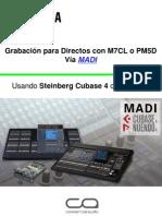 Grabacion en Vivo Con m7cl o Pm5d via Madi Steinberg