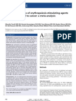 Meta Analisis, EPO in Cancer