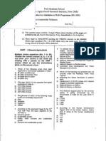IARI PhD Entrance Question Paper 2011 - Environmental Science