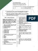 IARI PhD Entrance Question Paper 2011 - Post Harvest Tech (P~o~St Harvest Technology o f ~ o ~ t i