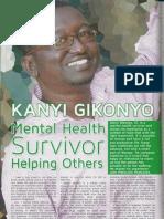 "Parents Magazine ""Mental Health Survivor"" March 2013  Kanyi Gikonyo"