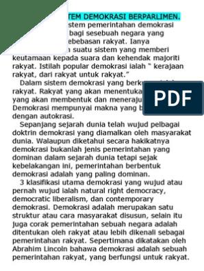 Kelebihan Sistem Demokrasi Berparlimen