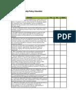 Information Security Policy Checklist