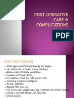 Post Operative Care.