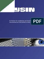 Produktkatalog Gysin AG