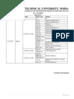 3 March 2013 Schedule for Odd Sem COP 2012-13