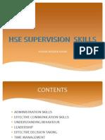 Hse Supervision Skills