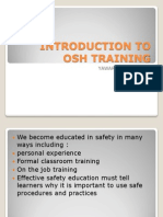 Introduction to Osh Training