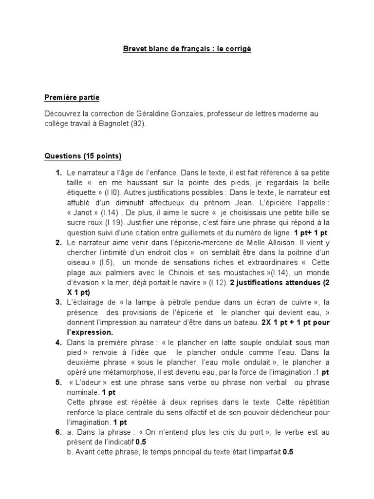 sujet dissertation francais 3eme