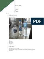 Percobaan Fluida Dalam Botol