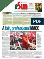 thesun 2009-02-25 page01 a fair professional macc