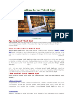 Cara Mendapatkan Jurnal Teknik Sipil