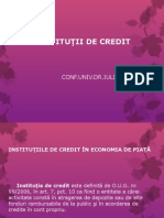 Institutiile de Credit in Economia de Piata