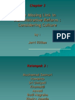The Missing Link in Administrative Reform Considering Culture