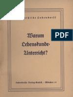 Ludendorff, Mathilde - Warum Lebenskundeunterricht, Ludendorffs Verlag