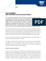 COMUNICADO DE IMPRENSA | NOVO DACIA SANDERO