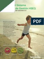 56061123 Manual Del Sistema Integrado de Gestion HSEQ Schneider Electric de Colombia S A