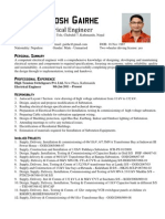 Electrical Engineer CV sample